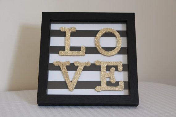 Hey, I found this really awesome Etsy listing at https://www.etsy.com/listing/227028512/love-black-white-and-gold-shadow-box