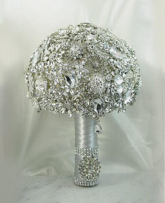 Diamond Wedding Brooch Bouquet. DEPOSIT on a Made to Order Heirloom Broach Bouquet. It shines like a Diamond