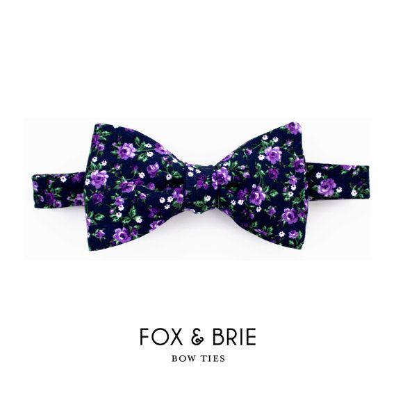 Midnight Garden Bow Tie by FoxandBrie on Etsy, $48.00