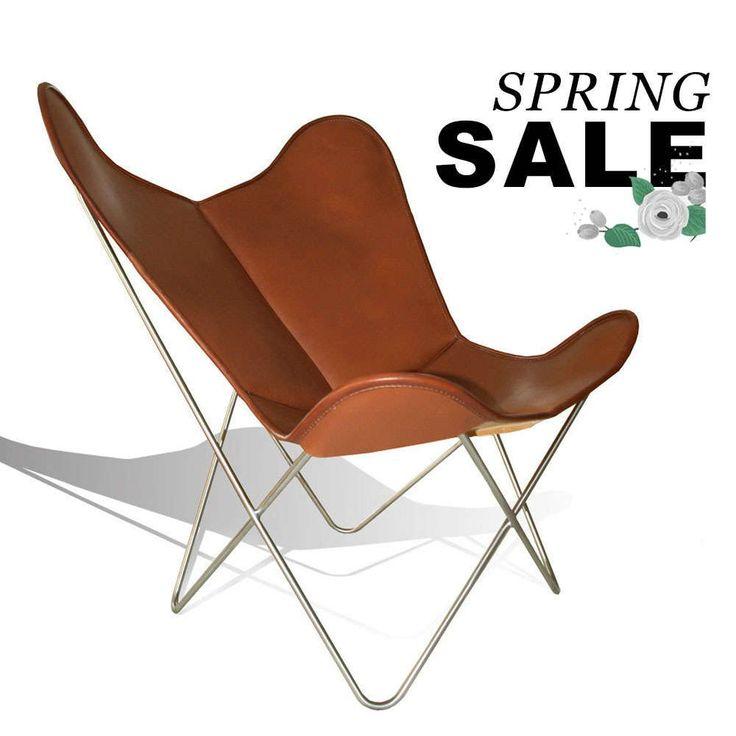 WEINBAUMS Hardoy Butterfly Chair ORIGINAL Leder Tabakbraun #weinbaums #BKF  #HardoyButterflyChair #Sale #