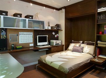 Murphy Bed - contemporary - home office - los angeles - Erica Islas / EMI Interior Design, Inc.