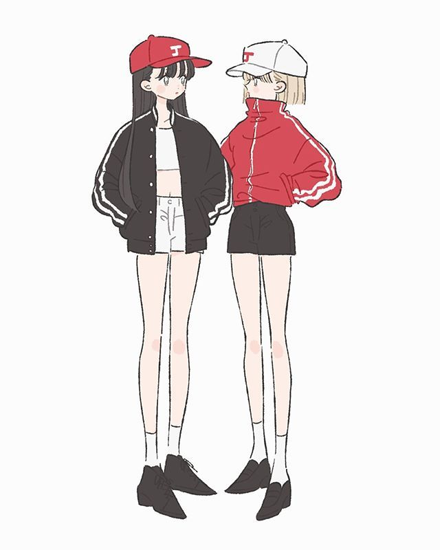 ジャージ系 illustration イラスト 女の子 ファッション