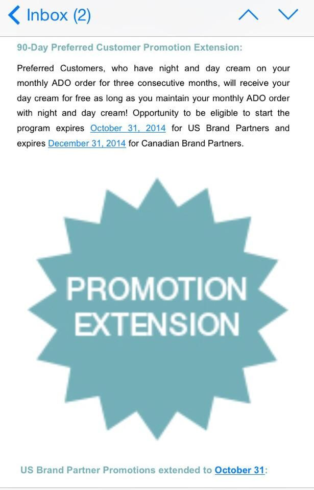 Promo is extended