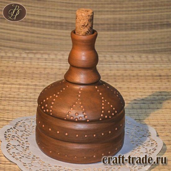 Керамический графин с пробочкой для воды, водки, вина в интернет магазине Рукоделец  #рукоделец #магазин #handmade #керамика #графин #pottery