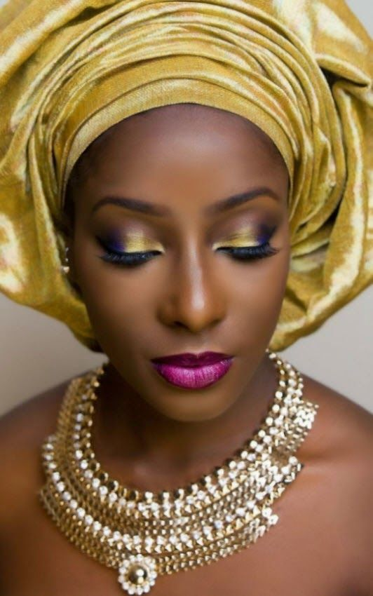 Welcome to Our Traditional Wedding.gold gele. Nigerian bride
