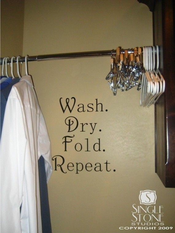 wall decals laundry wash dry fold repeat vinyl wall stickers art graphics