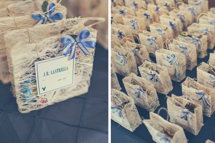 Escort Cards/Goody bags. Filipino Wedding. Abaca fibers. Details by Bellz & Whistlez. Photo by Julio Fonyat