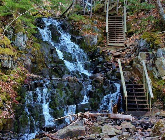 Stairway to the falls --Blomidon Provincial Park,N.S.