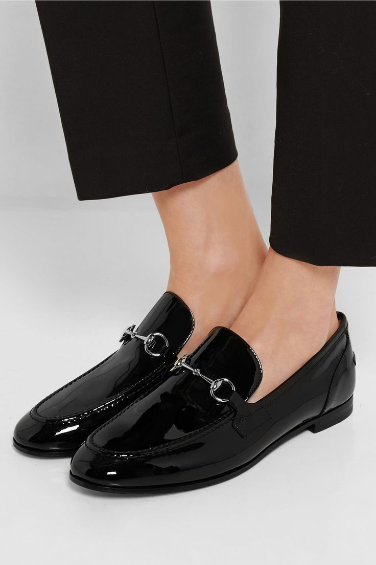 Gucci|New Power horsebit-detailed patent-leather loafers|NET-A-PORTER.COM
