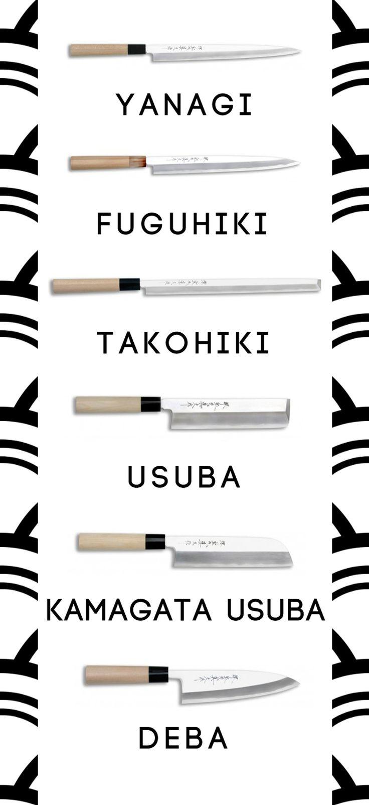 tipos de cuchillos japoneses