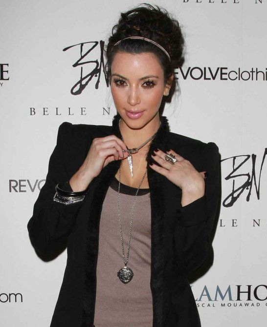 talking about kim kardashian jewelry she accessorized her look with