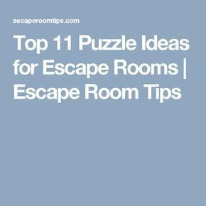 Top 11 Puzzle Ideas for Escape Rooms | Escape Room Tips