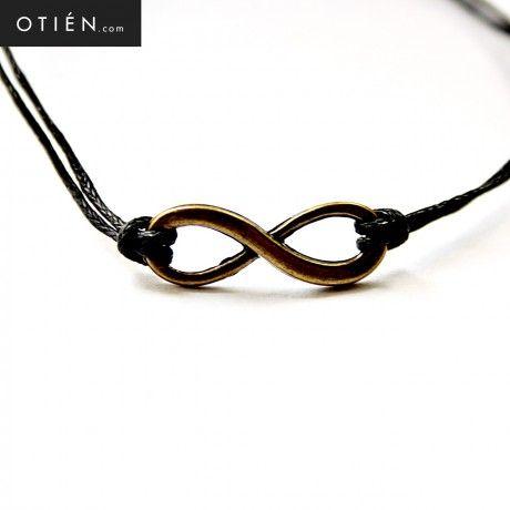 Infini noir (Nieskończoność czerń) - bransoletka na rzemyku Cudowna bransoletka!  www.OTIEN.com :)  Polub Nas na Facebook'u - http://www.facebook.com/pages/OTIEN :)  (Kliknij w zdjęcie i zobacz więcej!)