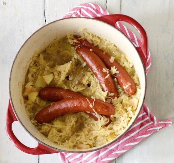 apfel sauerkraut mit wurst recipe sauerkraut essen and rezepte. Black Bedroom Furniture Sets. Home Design Ideas