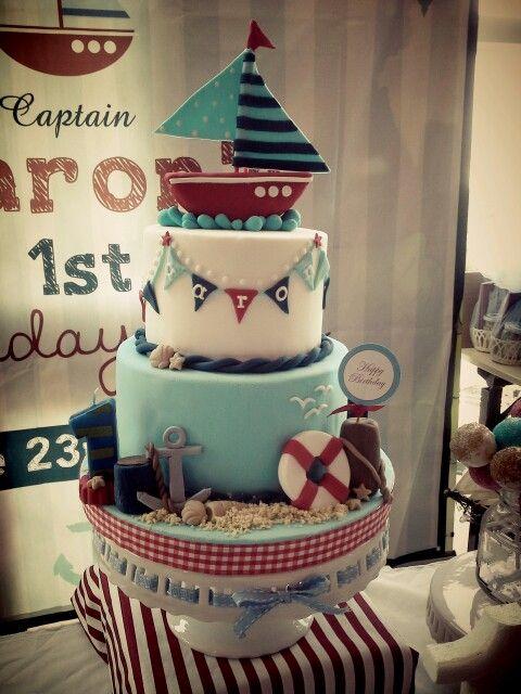 Birthday cake #sailor #nautical #birthday