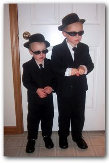Blues Brothers Halloween costumes-anyone want to join us for trick or treating this year? Lol