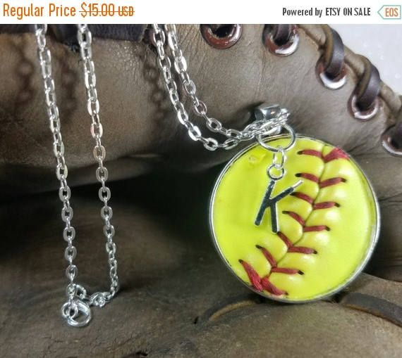 SALE Softball Necklace, Softball Jewelry, Personalized Softball Necklace, Personalized Softball Jewelry, Softball Team Gifts,  Softball Jewe