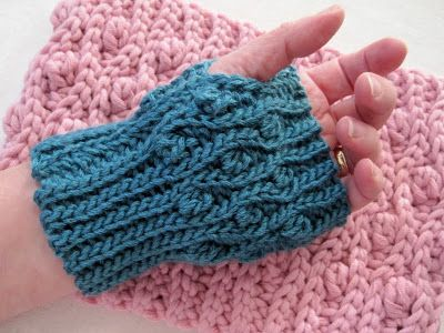 Mr. Micawber's Recipe for Happiness: Ribbonberry Too - Suggestions for Crochet Mitts and Leg Warmers