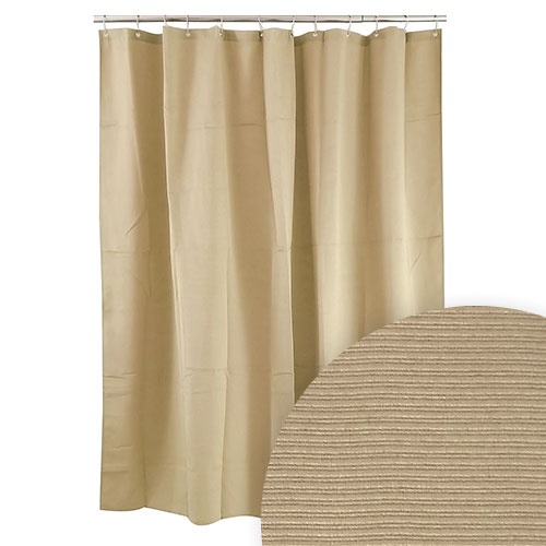 Harman Linen Color Ribbed Shower Curtain