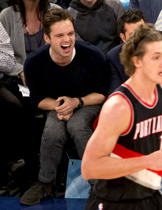 Sebastian at the Blazers/Knicks game on November 22nd 2016.