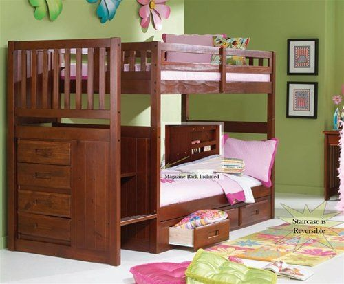 Kids love these 24 bunk beds with steps. I know my son loves them. You have to admit these are some amazing bunk beds. Check them out here.