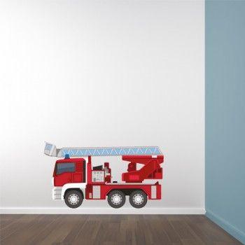 Muurstickers Brandweerwagen