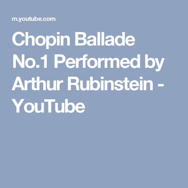 Chopin Ballade No.1 Performed by Arthur Rubinstein - YouTube