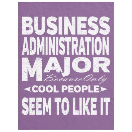Business Admin College Major Only Cool People Fleece Blanket Majors And Humor