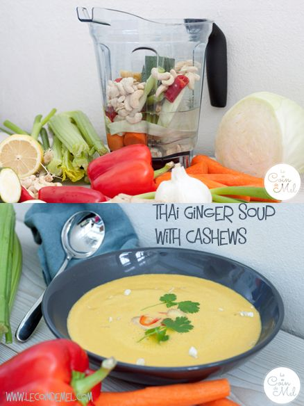 Thai Ginger Soup with Cashews in 15 Minutes