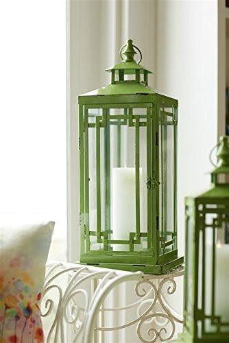Craftsman Green Candle Lanterns