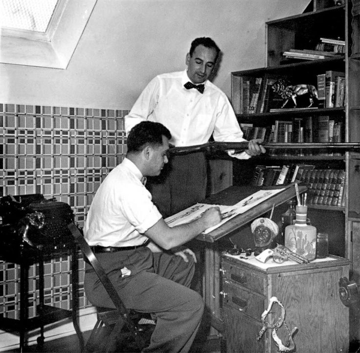 Jack Kirby & Joe Simon,creators of Captain America.
