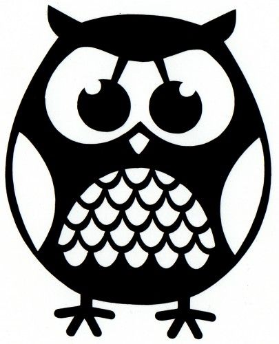 cute fat owl self adhesive vinyl decal