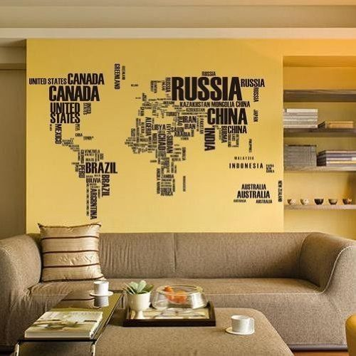 Best Wereldkaart Muurstickers Op De Muur Images On Pinterest - Custom vinyl wall decals canada   how to remove