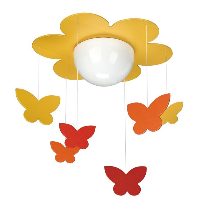 Philips kidsplace flower and butterfly ceiling light multi colored find this pin and more on kids room lighting