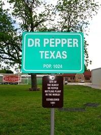 Dr Pepper, Texas