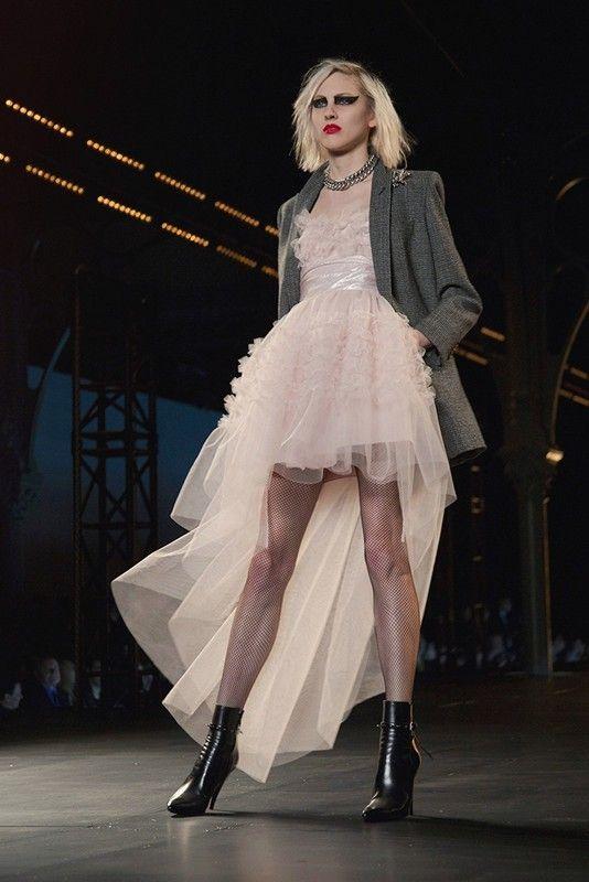 Saint Laurent AW15, Dazed runway, womenswear, Paris