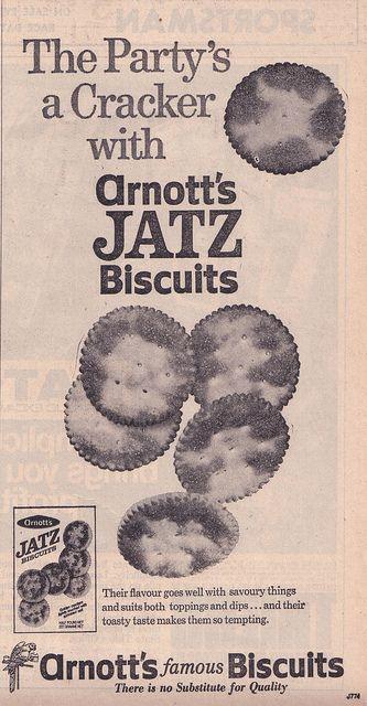 1971 ARNOTTs Jatz Biscuits Ad