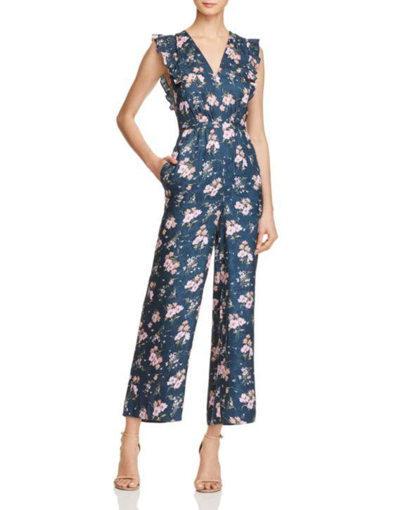 53eeeaa934 Rebecca Taylor Emilia Floral Silk Jumpsuit