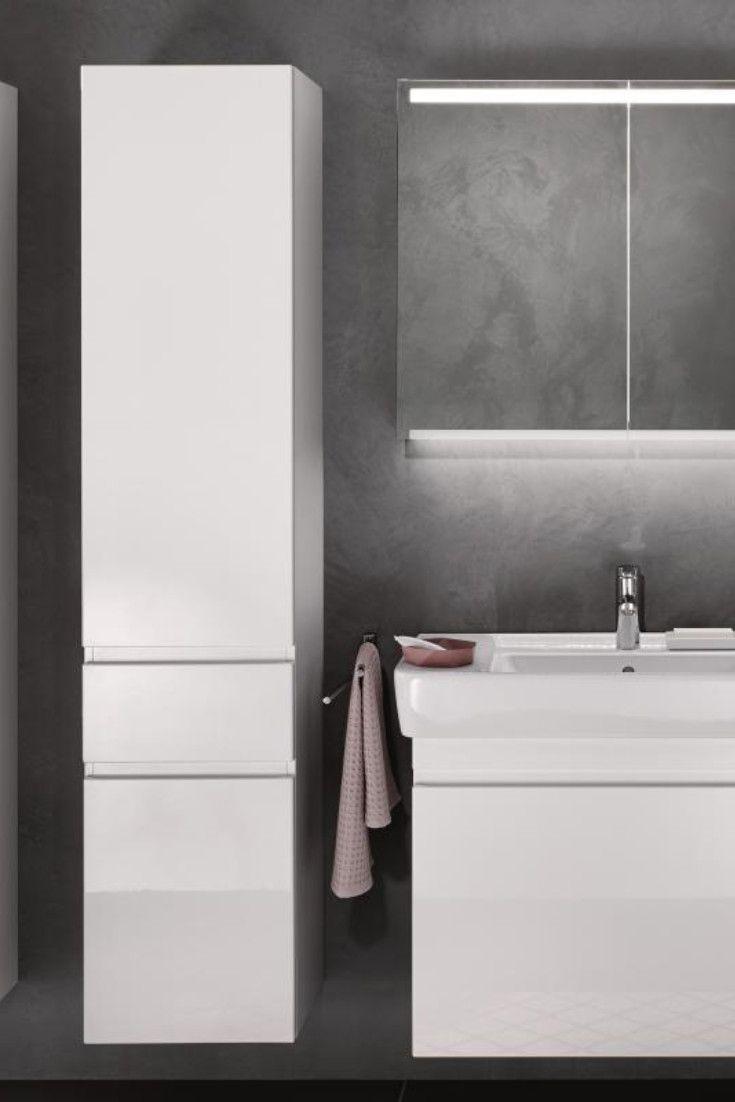 Keramag Renova Nr 1 Plan Elegant Modern Jede Menge Platz Mit Dem Hochschrank Werten Sie Jedes Bad Optisch Und Funkt Waschtisch Hochschrank Keramag Renova