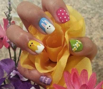 Click for the tutorial for each of these Easter baby animal nails!