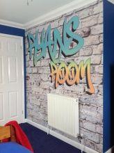 Custom Name Graffiti Wallpaper Mural