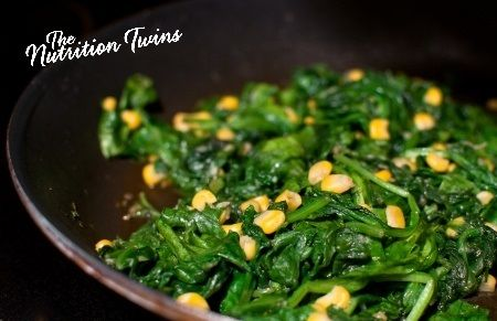 Lemon-Garlic Spinach and Kale | Scrumptious way to get your Greens | Packed with Potassium, Water, & Even Some Fiber to Flush Bloat | Enjoy! :) For MORE RECIPES please SIGN UP for our FREE NEWSLETTER www.NutritionTwins.com