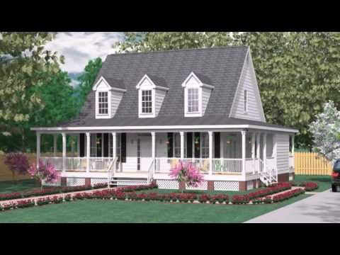 House Plans With Wrap Around Porch One Level Youtube Country House Plans Porch House Plans Rustic House Plans
