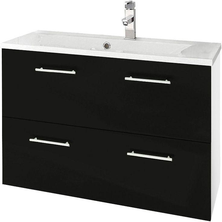 Die Besten 25+ Waschbeckenunterschrank Weiß Hochglanz Ideen Auf   Badezimmer  Unterschrank 80 Cm