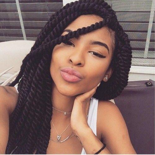 braids hairstyles for black women | 50 Trendy Box Braids Hairstyles | herinterest.com - Part 2