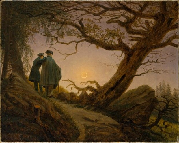 Caspar David Friedrich, Two Men Contemplating the Moon, 1825-30