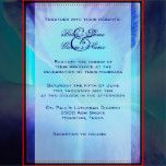 A macro blue orchid wedding invitation to send out to friends and relatives inviting them to your special day.  Fully customizable.
