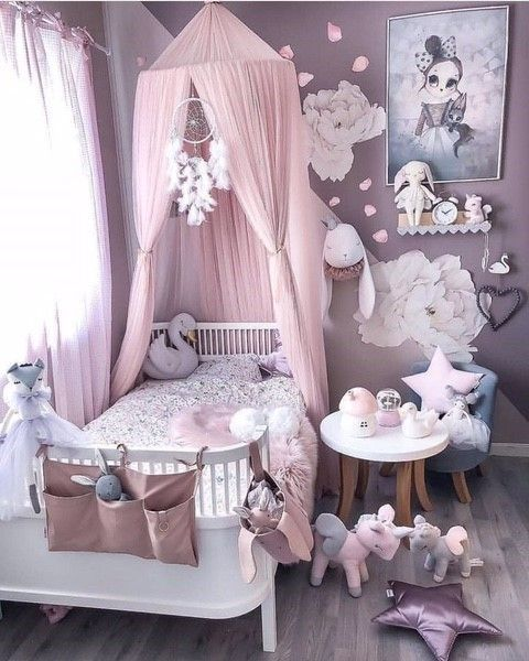 Trendy girl room décor | Looking for more girl's room inspirations? Check Cir…