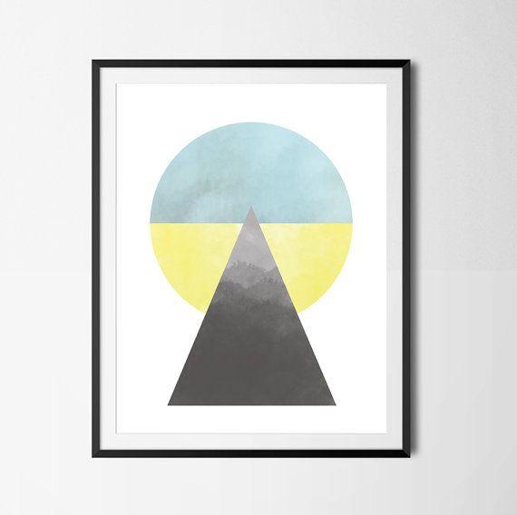Geometric Poster Minimalist Art Geometric Art by PaperLoveGraphics