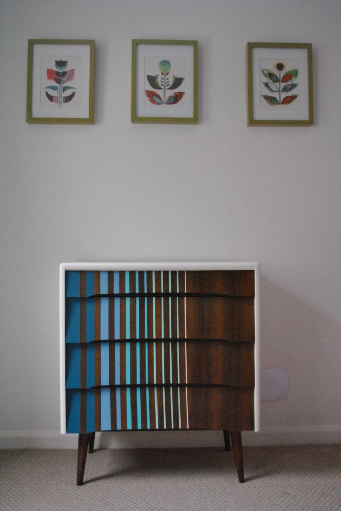 Retro chest of drawers upcycled by happyretro.co.uk